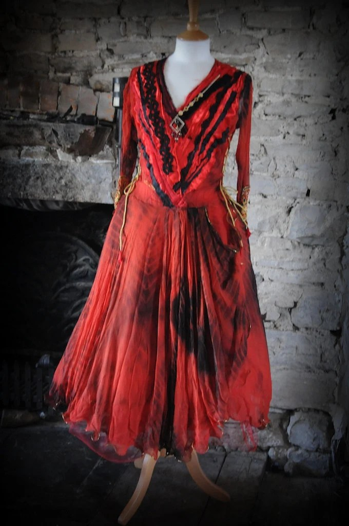Items Similar To Gothic Ball Gown Prom Dress Red Amp Black