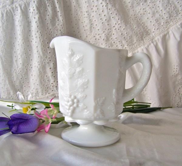 Vintage Milk Glass Pitcher Westmoreland White