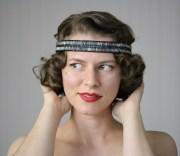 flapper headband 1920s hair accessory