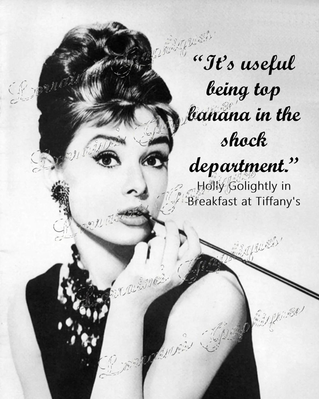 Audrey Hepburn Fine Art Print: Breakfast At Tiffany Quote