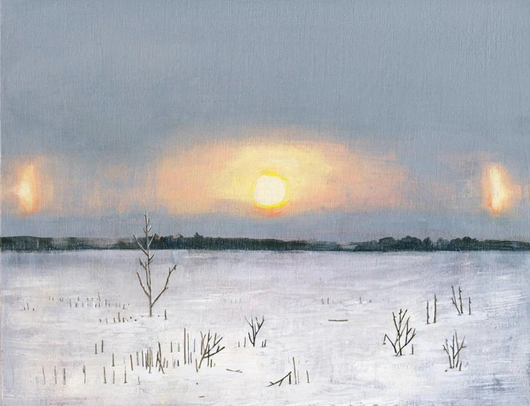 Parhelion from Field - limited edition art print of original painting - DannaRay