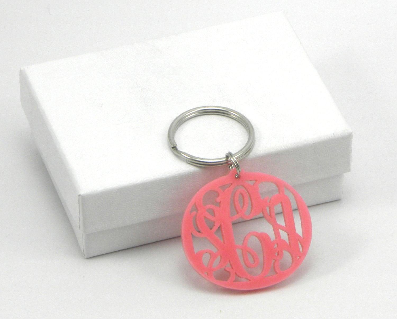 acrylic monogram keychain