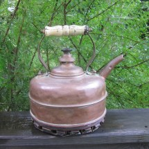 Antique Copper Tea Kettle Simplex Early 1900s