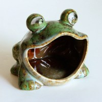 vintage frog scrubby sponge holder scouring pad by ...