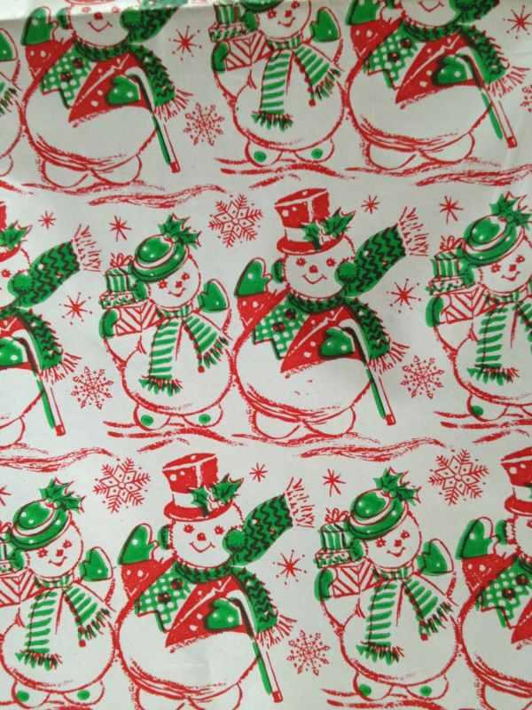 Vintage Snowman Christmas Gift Wrap
