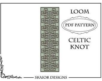 Two Tone Loom Bead Pattern Flower Square Stitch Loom by skaior