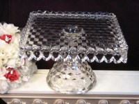 Vintage Fostoria American Crystal Footed Cake Plate