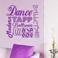 Dance Wall Quotes Ballet Words Removable Dancing Wall Decals
