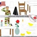 Clipart veterans day veterans day book study clipart 300 dpi