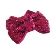 shocking pink glitter dog hair