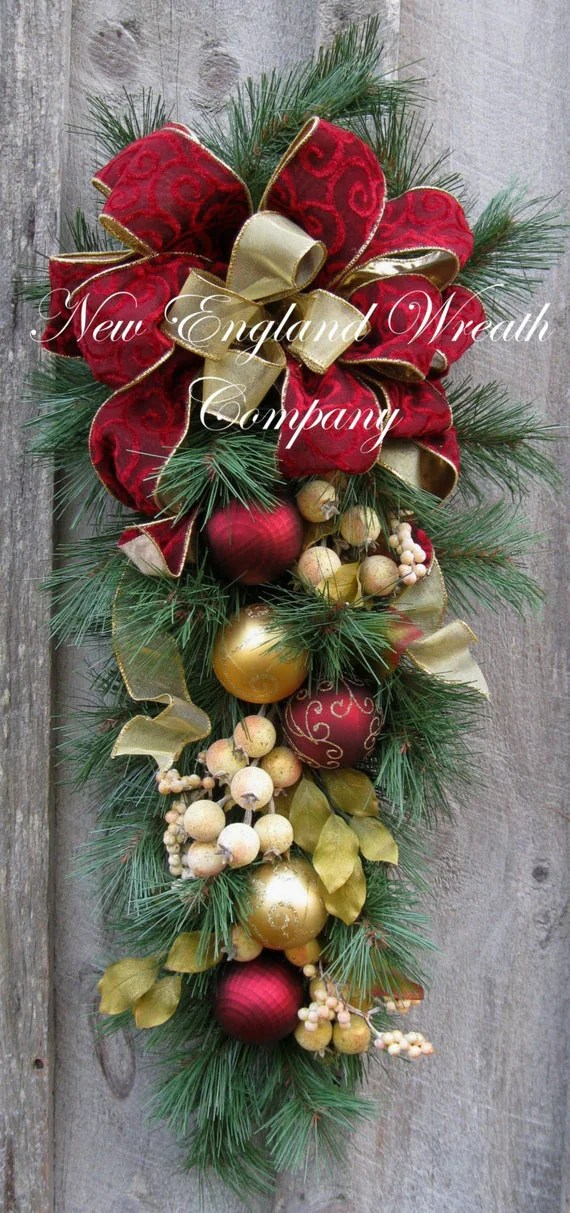 Christmas Swag Holiday Wreath Williamsburg Colonial