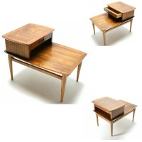 The 50s 60s Mid Century Modern LANE Step Table End TABLE