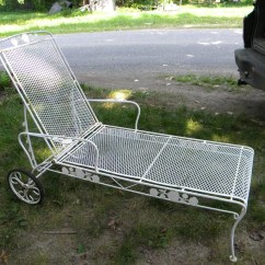Iron Chaise Lounge Chairs Lawn At Walmart Reserve Nice Shape Sturdy Vintage Mid Century Salterini Woodard Mesh Metal Chair Pick Up Only