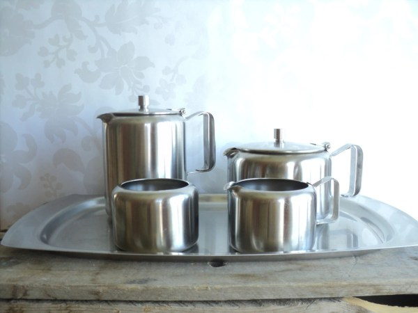 Tea Set Coffee Set 188 Stainless Steel 5 piece Tray