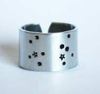 Sagittarius Zodiac Constellation Ring. Sagitarrius sign jewelry. Wide band zodiac ring. Sagittarius birthday gift. Astrology. RTS RA018