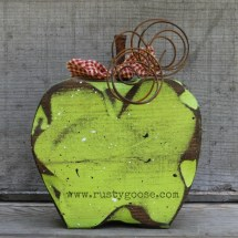 Green Apple Fall Decor Primitive Rustic Harvest