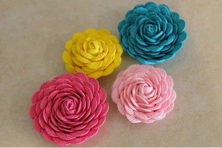 Rick Rack / Flower Clip / Hair Clip / Ric Rac