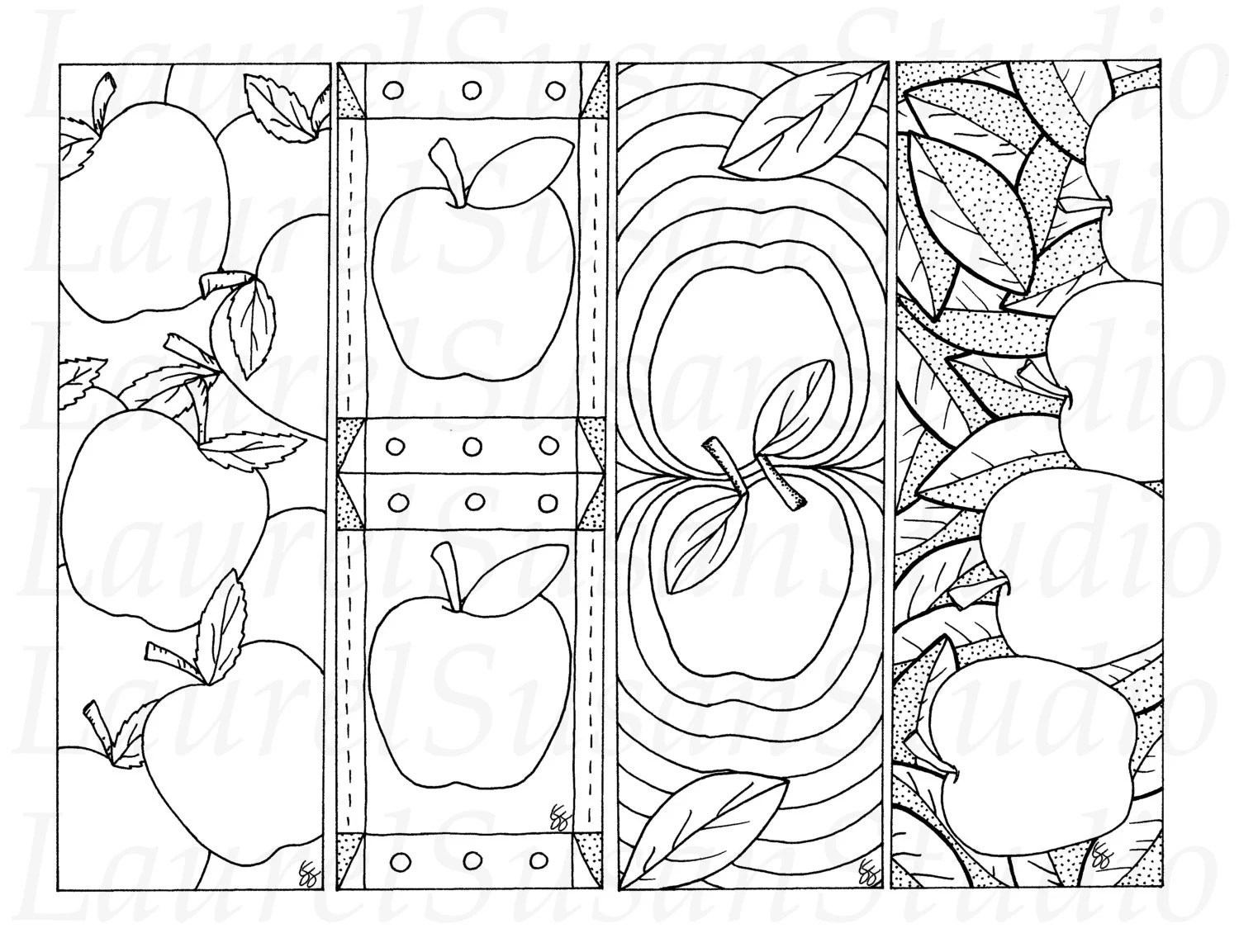 Items similar to Apple Bookmarks, Back to School Printable