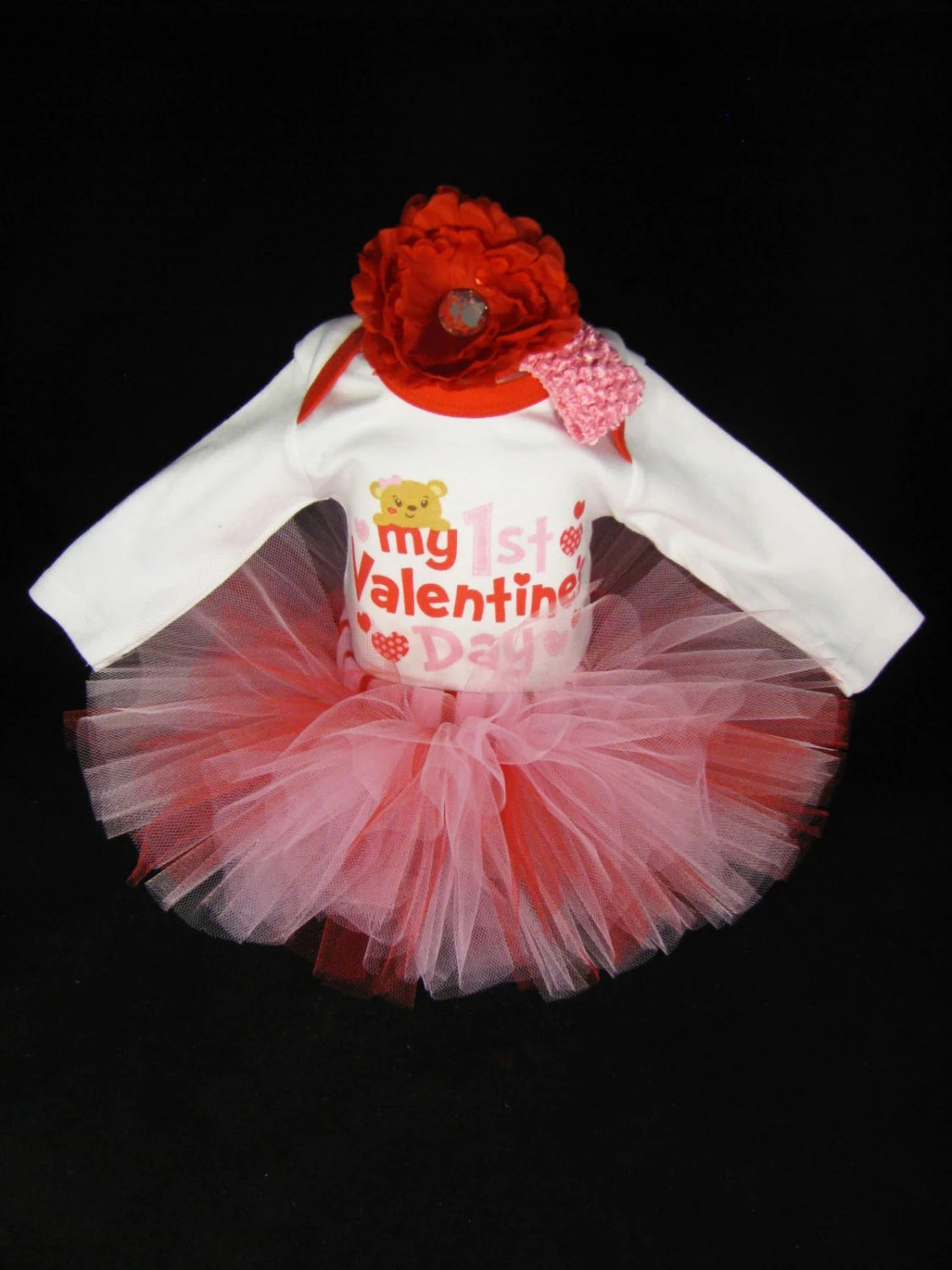 Baby Girl My First Valentines Day Outfit Babys Valentine