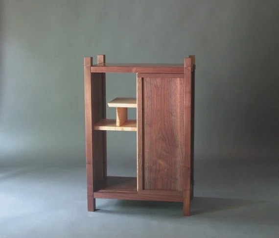 Entry Cabinet Small Cabinet with Shelves Sliding Door