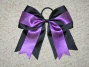 black & purple glitter cheer