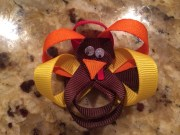 thanksgiving turkey hair bow