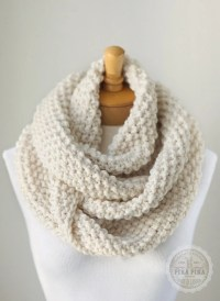 Knit infinity scarf chunky knitted infinity by ...