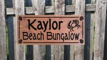 Beach House Outdoor Sign Personalized Wooden Tkwoodcrafts