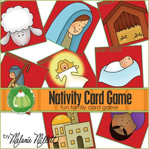 NATIVITY Match Card Game - Downloadable PDF Only