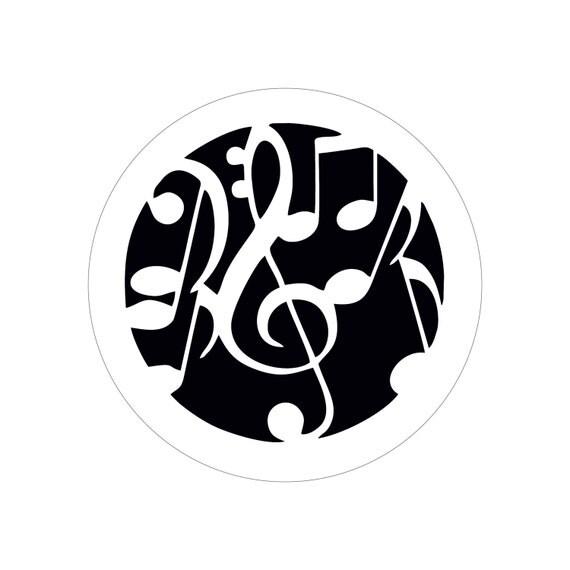 Music stencil cake decoration- Round stencil for cake