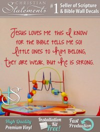 Items similar to Jesus Loves Me This I Know. Wall Decal ...