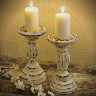 Ornate Distressed Cream Candle Holders Ornate Candlesticks