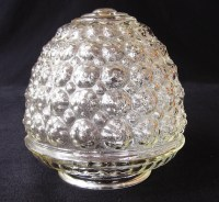 Vintage Bubble Glass Lamp Shade Mid-Century Clear by bequirksy