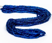 2 Cut. Czech Seed Bead. Size 10. Capri Blue - Silver Lined. 1 Strand. - InspiringBeads