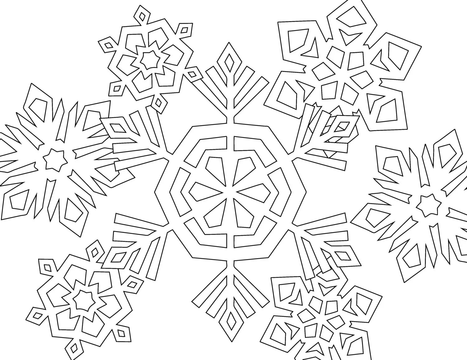 Winter Themed 4 Printable Coloring Pages By Bigcolorfulworld