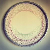 Recycled Bicycle Wheel Laced Wall Art woven fiber by ...