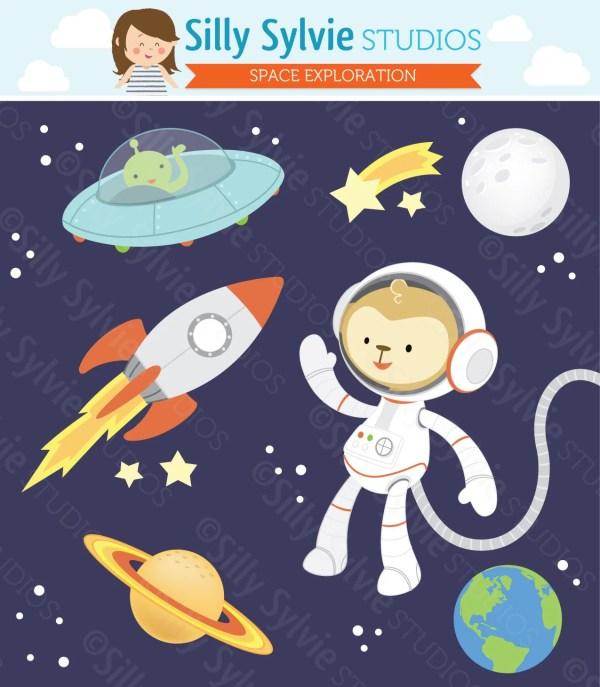 Space Exploration Clip Art