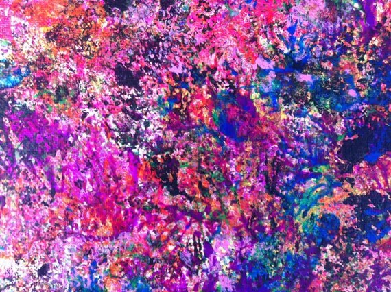 Abstract Painting Modern Wall Art Pink Abstract Art Neon