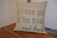I love you to the moon and back / Pillow Cover/ by