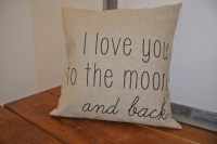 I love you to the moon and back / Pillow Cover/ by ...