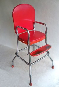 Mid Century Cosco Baby High Chair Red & Chrome by ...