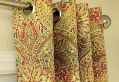 Blue And Brown Paisley Curtains
