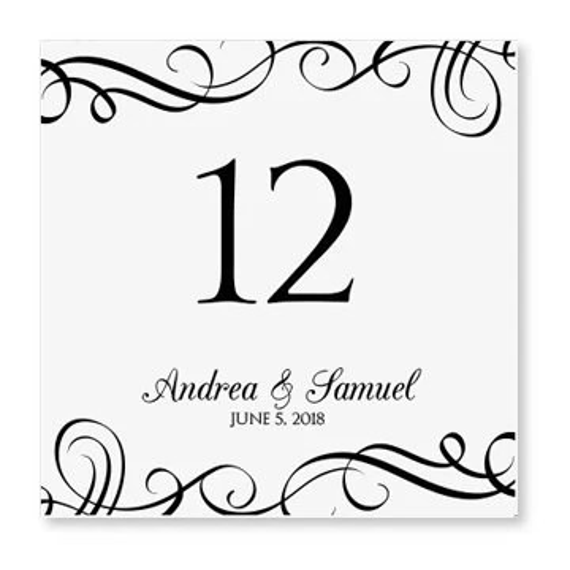 INSTANT DOWNLOAD Wedding Table Number Card by KarmaKWeddings