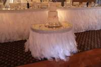Items similar to White organza ruffle 'curly willow' table ...