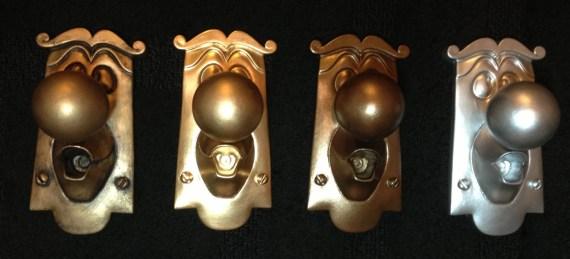 Alice in Wonderland Doorknob Disney prop 100% resin figure display Choose: Gold, Silver, Bronze and MORE