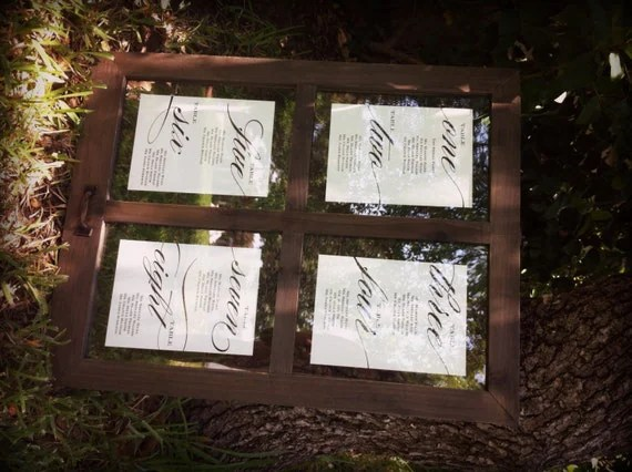 Wedding Seating Chart Table Numbers