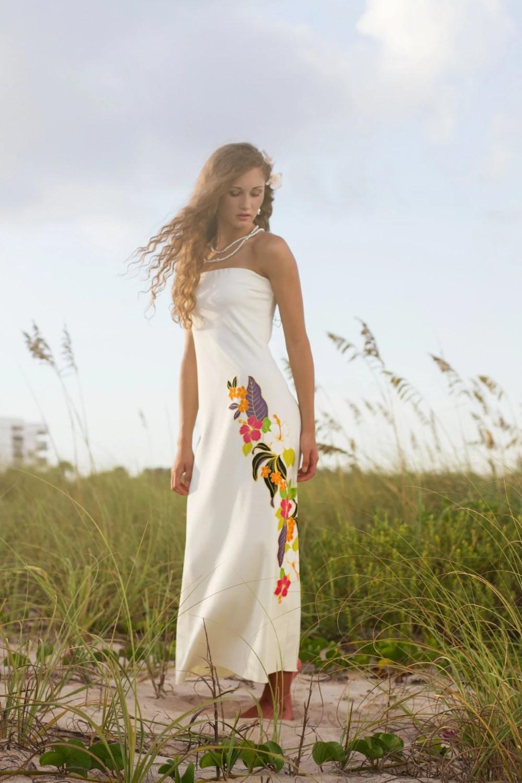 Top Selling Strapless Hawaiian Wedding by ishkabibblesdesigns