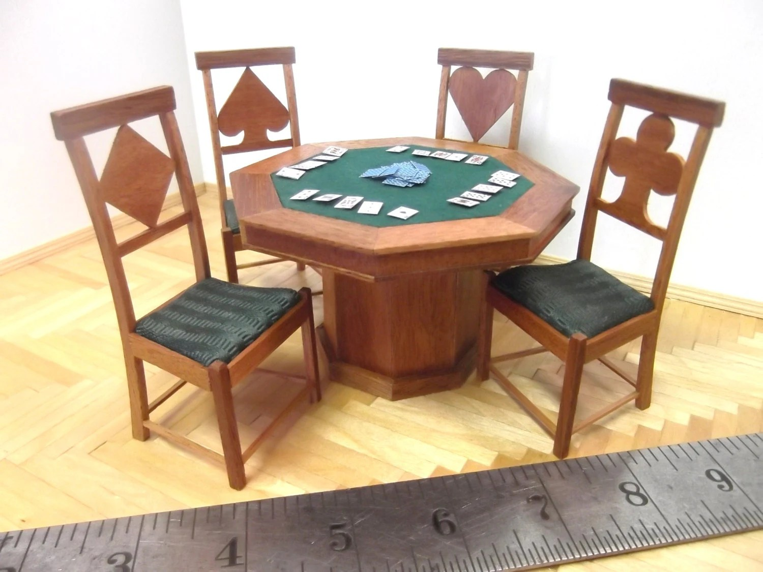 Poker Table With Chairs Miniature Poker Table And Chairs Set