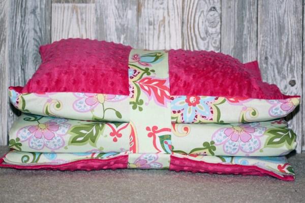 Kinder Nap Mat Cover Splendor Floral With Dark