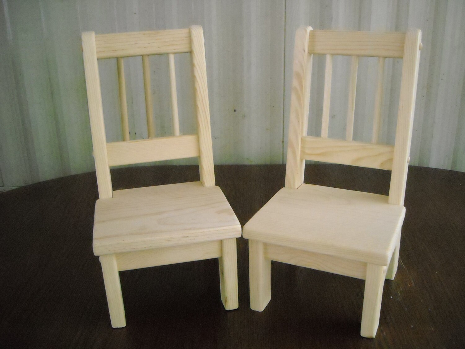 18 doll table and chairs high chair for baby girl handmade set of 2 inch